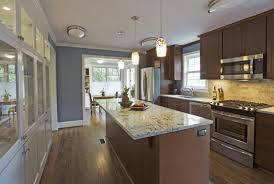 Kitchen Faucet For Granite Countertops Best Galley Kitchen Design Gray Granite Countertop Double Built In