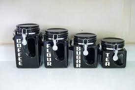 kitchen canister sets black kitchen canister sets black lesmurs info