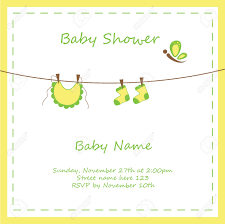 neutral baby shower invitation royalty free cliparts vectors and