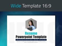 Resume Powerpoint Template Miscellaneous Product Categories Goodpello