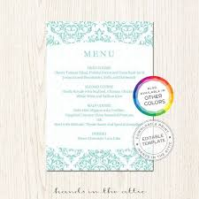 68 best wedding menu cards images on pinterest wedding menu