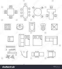 floor plan furniture clipart incredible symbols for tables and