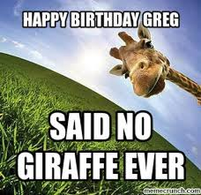 Greg Meme - birthday greg
