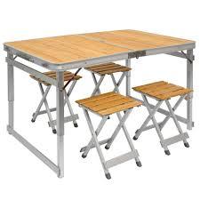fabriquer une table pliante table de camping portable table 4 tabourets pliante en