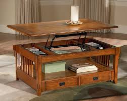 coffee tables attractive brown rustic square lift