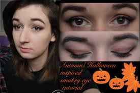 autumn halloween inspired makeup look youtube
