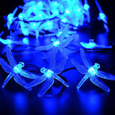qedertek dragonfly outdoor solar lights 20ft 30 led waterproof
