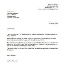 How To Write Resignation Notice Nice Sample Resignation Letter No Notice U2013 Letter Format Writing