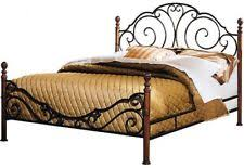 king size bed frame and headboard footboard cast iron antique