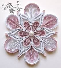 quilled snowflake by pinterzsu on deviantart quilling