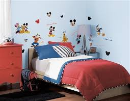 Mickey Mouse Toddler Bedroom Decals Of Mickey Mouse And Friends Mickey Mouse Wall Decor For