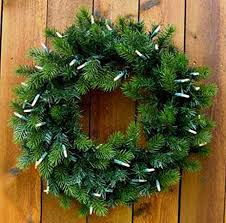 lighted battery operated wreaths 24 inch