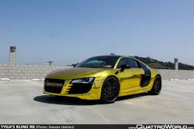 audi r8 chrome blue tyga u0027s bling r8 quattroworld