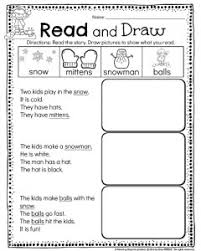 kindergarten math and literacy worksheets for december planning