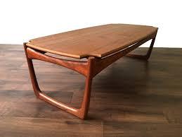 mid century modern surfboard coffee table retro scandinavian teak coffee side table vintage mid century