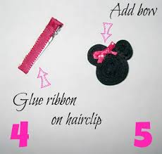 minnie mouse hair bow handmade minnie mouse hair clip artsy momma