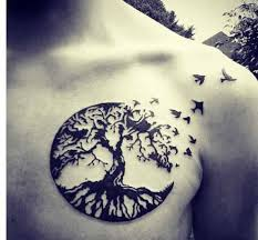 chest tree of design design of tattoos
