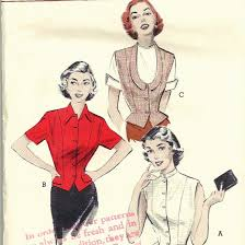 weskit blouse butterick 6074 1950s weskit blouse pattern with high or scoop