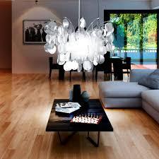Wohnzimmer Lampe Edel Design Hänge Decken Lampe Wohnzimmer Leuchte E27 Rund Blätter
