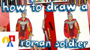 how to draw a roman soldier youtube