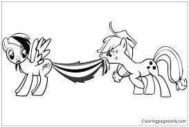 Mlp Applejack Colouring Pages Apple Jack And Rainbow Dash My My Pony Coloring Pages Fluttershy Equestria Free
