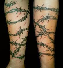 barb wire arm tattoo