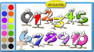 color funny numbers 1 10 123 coloring learn colors