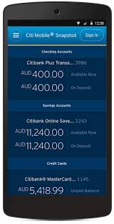 android snapshot citi mobile app citibank ipb