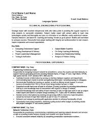 Information Technology Resume Samples by Engineering Technician Resume Template Premium Resume Samples