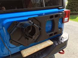 jeep tire carrier teraflex jk wrangler hd hinged carrier install jeepfan com