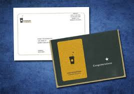 starbuck gold card international card manufacturers association elan awards
