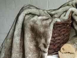 plaid beige canapé plaid marron pour canape fausse fourrure beige 140x180cm home