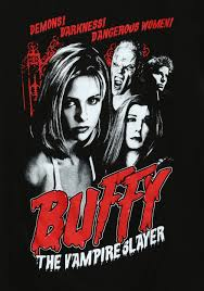 womens buffy the vampire slayer cult poster t shirt