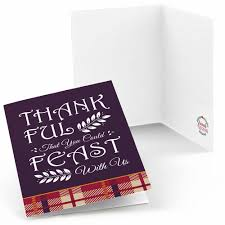 friends thanksgiving feast friendsgiving thank you cards