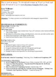 hair stylist resume exles professional hair stylist resume