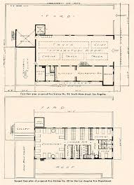 Fire Station Floor Plans Engine Company No 22 And Truck Company No 13