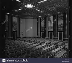Decorated Ceiling Interior Angled View Of Auditorium With Decorated Ceiling And