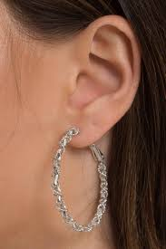 silver hoop earrings swirl me around silver hoop earrings 8 tobi us