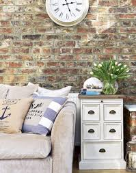 Exposed Brick Wall by Country Living Room With Exposed Brick Wall Home Pinterest