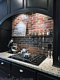 brick kitchen backsplash diy brick backsplash can decorate
