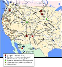 North America On Map by Pre Colombian Trade Routes In Western North America 900x976