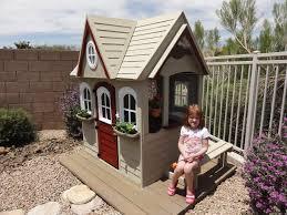 Backyard Cedar Playhouse by Costco Cedar Playhouse Life Simplistic
