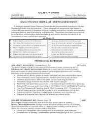 Hr Generalist Sample Resume by Sample Resume Of Hr Generalist Free Resume Example And Writing