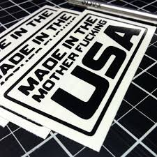 mitsubishi sticker made in the mother fucking usa decal choose a size u0026 color