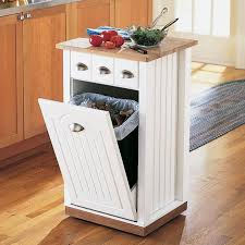 rolling island for kitchen great way to hide the trash it is on wheels so it can also be