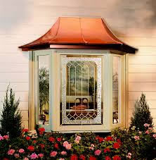 bay window with casement side vents decorative glass and optional