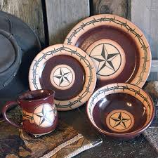 barbwire pottery dinnerware cabin place