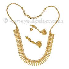 gold necklace with earrings images Gold sets necklace and earrings 22 k jpg