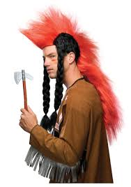 Native Indian Halloween Costumes American Indian Mohawk Wig With Braids