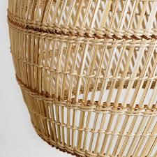 basket weave bamboo pendant shade world market